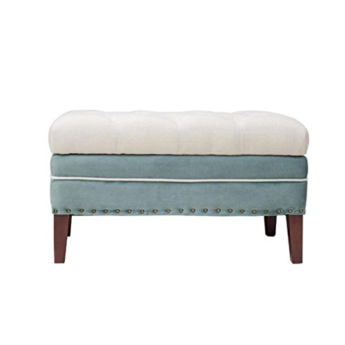 Daily Equipment Stools Upholstered Rectangular Padded Storage Pouf with Storage Ottoman with Bar Stool End of Bed Stool