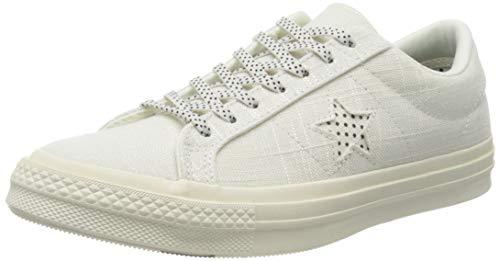 Converse Damen Cons One Star Ox Sneaker, Weiß (Weiß/Schwarz Weiß/Schwarz), 39 EU