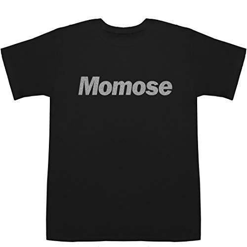 Momose 百瀬 桃瀬 モモセ T-shirts ブラックXシルバー XS【健 東京大学】【こっちを向いて. ラスト 違い】