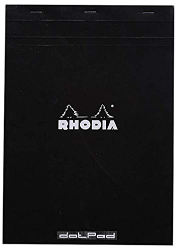Exaclair Rhodia DotPad Negro No18 210x297 mm, 5 unidades