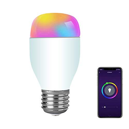 E-hause Smart LED Lampe WLAN Alexa Glühbirne, E27 RGB Dimmbare Birne Steuerbar via App, Kompatibel mit Alexa Echo Google home