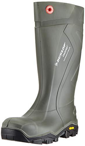 Dunlop Protective Footwear Purofort+ Outlander full safety with Vibram sole Unisex-Erwachsene Gummistiefel, Grün 43 EU