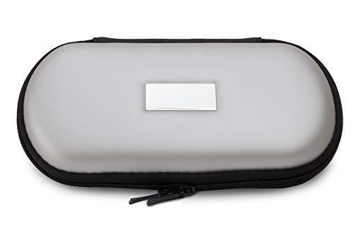 Aufbewahrungs-Etui Ego für E-Zigaretten und E-Shishas ideal als Tasche Hülle Bag Case zum Schutz oder für Liquids und Zubehör Silber