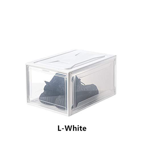 XWJRPA Caja de almacenaje,Zapatos Transparentes Caja Zapatilla de Deporte Zapatos de Baloncesto Colección del Organizador de Almacenamiento Misceláneas Gabinete Zapatos a Prueba de Polvo Antimois