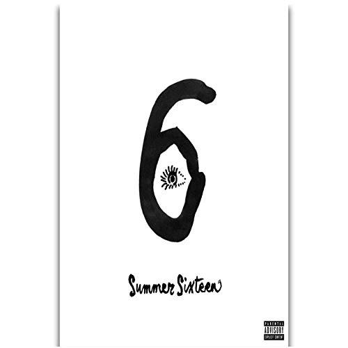 Cubierta del álbum Drake Summer Sixteen Hip Hop Rap Music Rapper Wall Art Pintura Impresión en lienzo Poster Decoración del hogar -40x60cm Sin marco