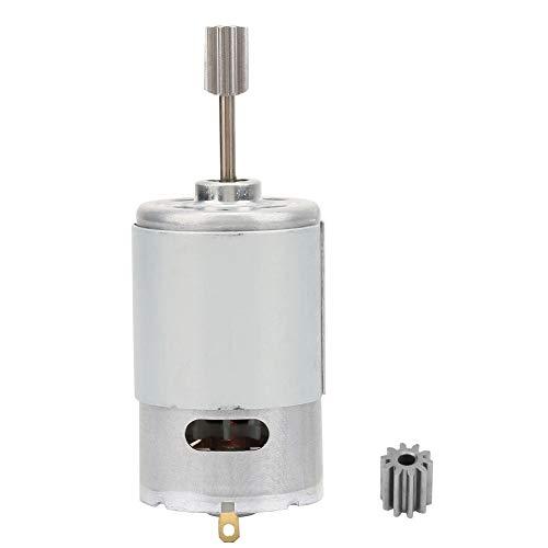 Mikromotor 12V, Hochgeschwindigkeitsmotor, Mini-Elektromotor mit 2-teiligem Zahnkopf, für elektrisches Spielzeugauto-Kindermotorrad(30000 U/min)