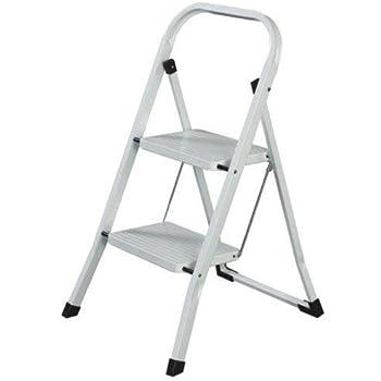 MAURER 23010106 Escalerilla Acero 2 Peldaños Uso Doméstico: Amazon.es: Bricolaje y herramientas