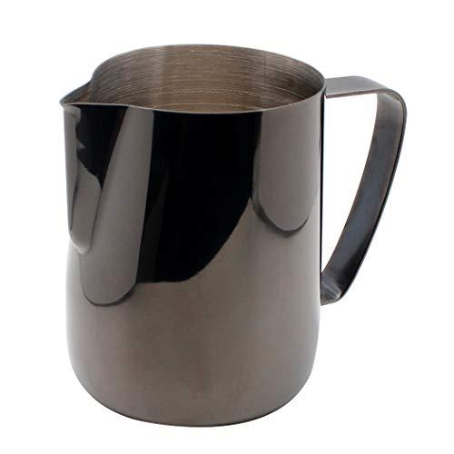 Dianoo Lanciatore Per Latte In Acciaio Inossidabile Placcato In Titanio Scrematrice Tazza Di Latte Art Caffè Latte Cappuccino Nero 600ml