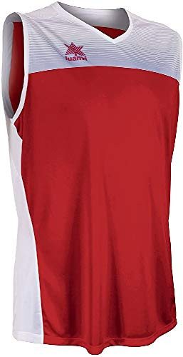 Luanvi Portland Camiseta Especializada de Baloncesto, Unisex Adulto, Rojo/Blanco, S