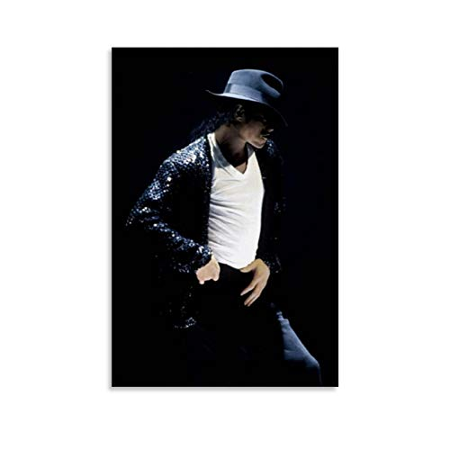 tongton Michael Jackson Pop Memorial Sun And Moon Walking Hat Iconic King of Music Day King of Music - Póster decorativo para pared (40 x 60 cm)