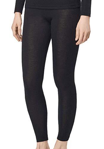 UTENOS Merino Wolle Ultra Soft Damen lange Hosen Unterhose, Schwarz, S