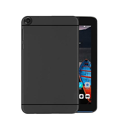 Hello Zone Exclusive Matte Finish Soft Back Case Cover for Lenovo Tab 3 710i Tablet - Black