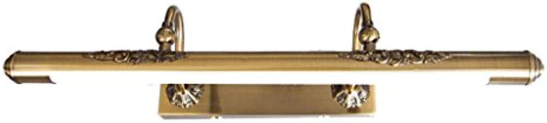 Bild Frontleuchte LED-Spiegel-Frontleuchte im europischen Stil Retro-Bad-WC Wasserdichte Feuchtigkeits Anti-Fog-Schminktisch Lampe, Wandleuchte - verstellbarer Winkel Eitelkeitslicht