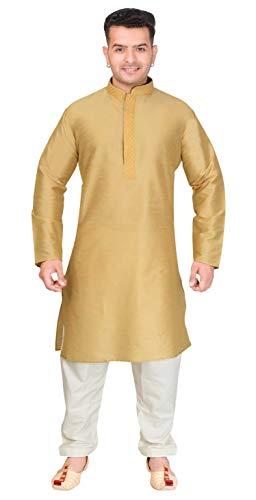 Pijama Kurta indio de mezcla de seda para hombre Salwar Kameez 1871