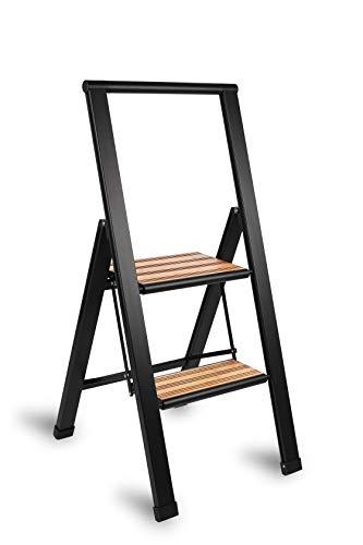 Sorfey Premium 2 Step Modern Bamboo Ladder....