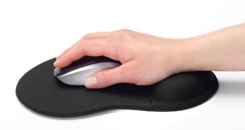 tappetino mouse ergonomico Nilox EDNET E64020 Tappetino per Mouse Colore Nero con Poggiapolsi in Gel