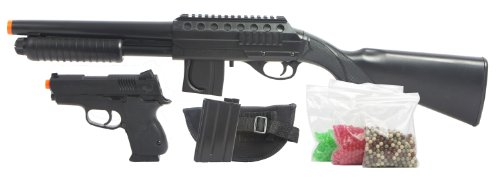 Mossberg Tactical Spring Powered Airsoft Shotgun and Compact .45 Pistol Kit