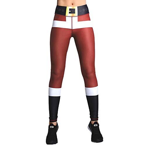 WEIMEITE Leggings Noel pour Sport Yoga Fitness Pantalons Gym Femmes Taille Haute Long Pantalons Décontractés