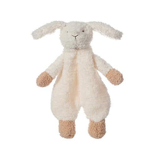 Apricot Lamb Stuffed Animals Security Blanket White Bunny Infant Nursery Character Blanket Luxury Snuggler PlushWhite Bunny 10 Inches