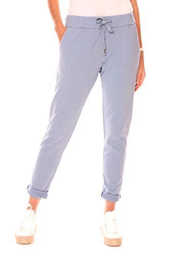 Easy Young Fashion Damen Hose Jogginghose Lang Sporthose Basic Freizeit Sweatpants Baumwolle Jeansblau S 36