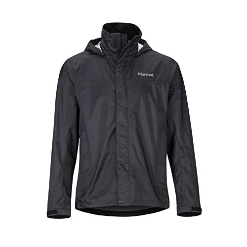 Marmot Men's PreCip Eco Jacket, Hardshell Rain Jacket, Raincoat, Windproof, Waterproof, Breathable, M, Black (2019 version)