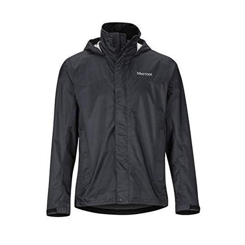 Marmot Men's PreCip Eco Jacket, Hardshell Rain Jacket, Raincoat, Windproof, Waterproof, Breathable, M, Black (2019 version)