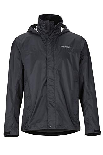 Marmot Herren PreCip Eco Jacket, wasserdichte Regenjacke, winddichter Regenmantel, atmungsaktiv, faltbarer Hardshell Windbreaker, ideal zum Fahrradfahren & Wandern, Black, XXL