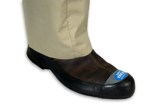 Safety TREDS 13433 Rubber Overshoes for Dress Shoes with Safety Toe, X-Large (One Pair)