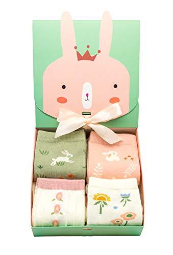 Caramella lustige Sockenbox für Frauen und Mädchen, süßes Ostern Geschenk für Freunde und Familie, Osterfest, 4 Paar bunte Socken (Damen, Einheitsgröße)