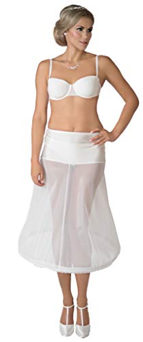 Reifrock Neu Wadenlang 1 Ring 1 Reifen Tee Länge kurz Ivory Creme 180 cm Umfang Brautkleid Unterrock Petticoat (L)