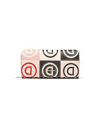 Desigual Damen Mone_Logo Patch_Maria Geldbörse, Beige (Beige), 3x9.5x20.2 cm