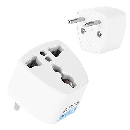 Lantro JS Adaptador de Corriente, Blanco, 1 Paquete, Internacional, Duradero, para EE. UU. / Reino Unido/Australia, Adaptador de Enchufe liviano para la UE, para teléfonos móviles, portátil para