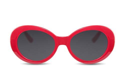 Cheapass Gafas de Sol Vintage Cristales Rojos Ahumados Kurt Cobain Gafas Protección UV400