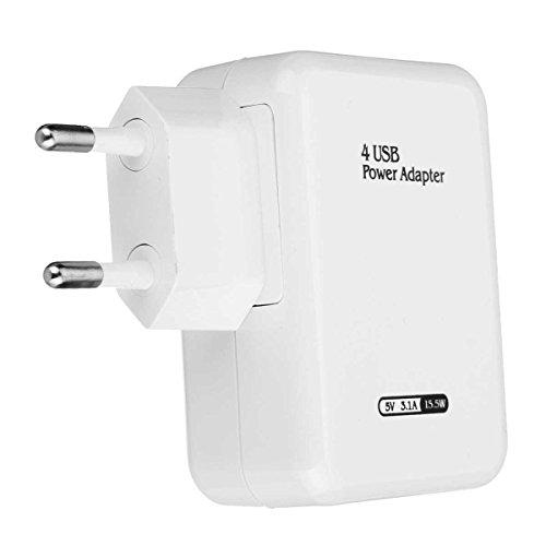 Tutoy Adaptateur USB Universal Travel Adaptateur Chargeur Mural 4 Ports USB Hub Adaptateur Secteur Us/EU Plug - UE Plug