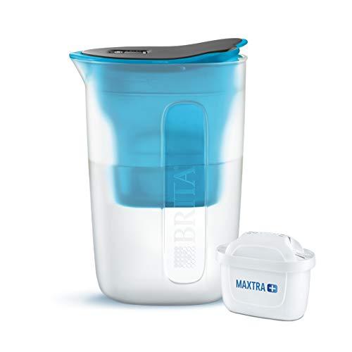 BRITA Wasserfilter Fun blau, inkl. 1 MAXTRA+ Filterkartusche – kleiner Wasserfilter für größten Genuss dank der Reduzierung von Kalk und Chlor im Leitungswasser