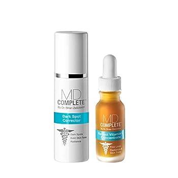 MD Complete Dark Spot Retinol Duo Dark Spot Corrector and Retinol Vitamin C Concentrate Serum Duo