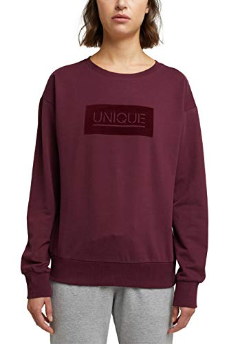 ESPRIT Sports Damen ocs Sweater Sweatshirt, 600/BORDEAUX RED, L