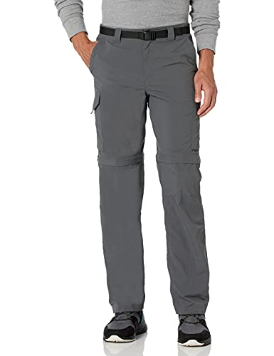 Columbia Men's Silver Ridge Convertible Pant, Breathable, UPF 50 Sun Protection, Grill, 30x28