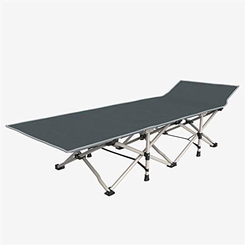 Gray Sun Bed Folding Beds Single Office Lunch Break 178 65 37Cm Simple Beds Office Siesta Bed Round Steel Pipe 100 Kg Max