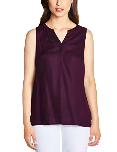 Cecil Damen 341543 Bluse, deep Berry, Large (Herstellergröße:L)