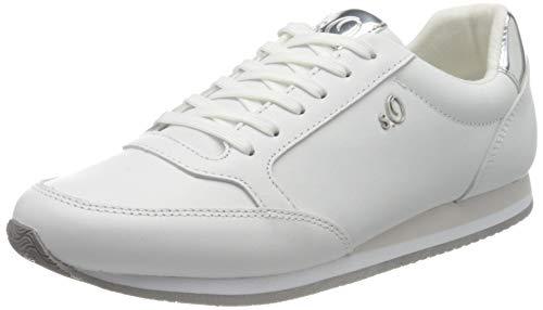 s.Oliver Damen 5-5-23630-24 Sneaker, Weiß (White Nappa 102), 40
