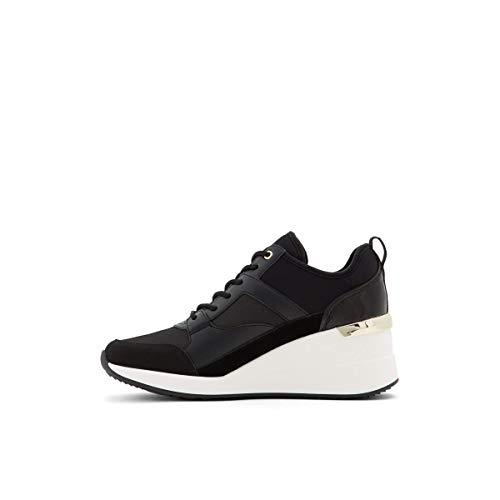 ALDO Damen Thrundra Plateau-Keil-Sneaker, Schwarz Black 001, 42.5 EU