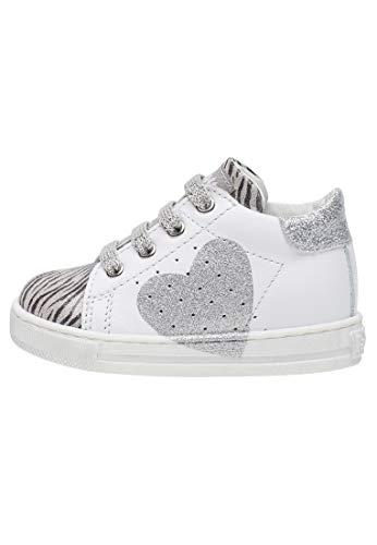 Falcotto Heart-Sneaker mit Glossy Details-Silber-Wieß Silber 20