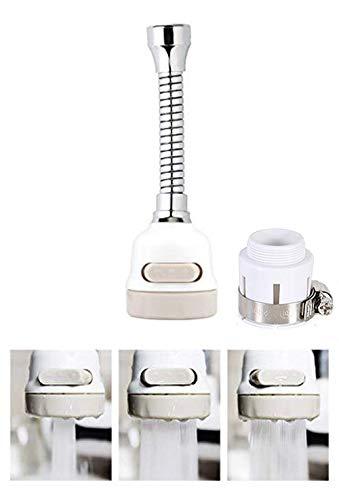 Aireador de grifo, boquilla para manguera de grifo a prueba de salpicaduras giratoria de 360°, 3 engranajes ajustables, boquilla para grifo de ahorro de agua para cocina, baño y ducha