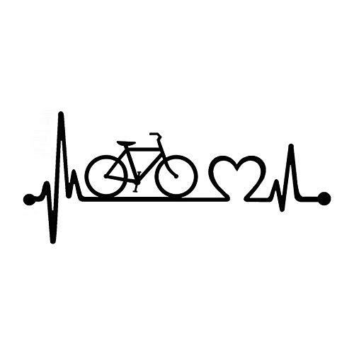 adesivo murale 3d adesivo muro Arte Adesivo piccolo bellezza Bicicletta Battito cardiaco Lifeline Ciclismo Moda Poster Decalcomanie Murale Ornamento di moda Decorazione per soggiorno