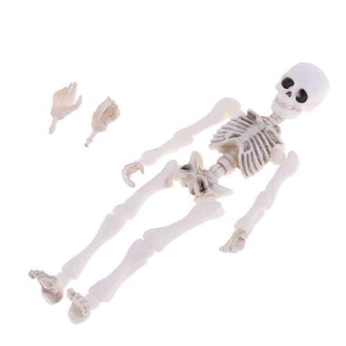 MagiDeal Handgefertigte 8,7 cm Skelett Puppe Figuren Für Puppenhaus Dekor Kinder Spielset Spielzeug