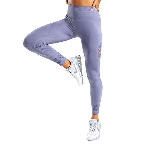 QTJY Energy Leggings sin Costuras Pantalones de Yoga de Cintura Alta para Mujer Leggings Deportivos súper elásticos Gimnasio Celulitis Pantalones para Correr G L