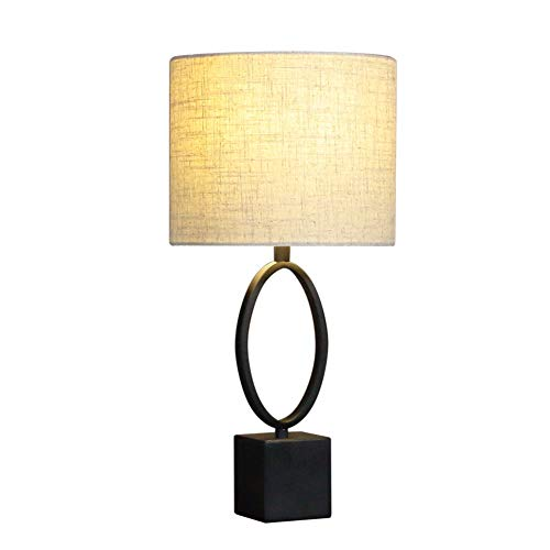WYZ tafellampafdekking dimbaar slaapkamer woonkamer studie smeedijzer lak linnen textiel modern minimalistisch