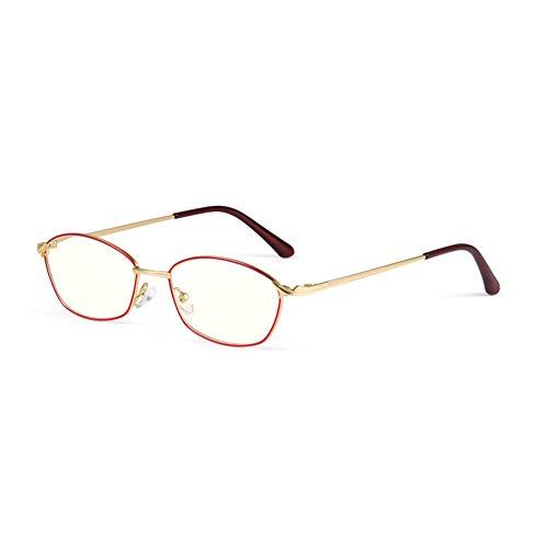 HQMGLASSES Gafas de Lectura fotocrómica multifocal progresiva de Damas HD, 1,56 Lente de Resina asférica Anti-Azul Lector de Exteriores Diopter +1.0 a +3.0,Rojo,+1.5