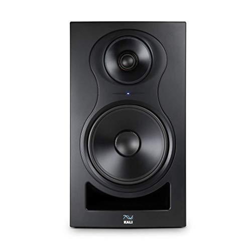 Monitor de campo cercano activo de 3 vías Kali Audio IN-8 Altavoces del monitor de estudio (rango medio/tweeter coaxial, 140W - 60/40/40 Watt Tri-Amped), negro